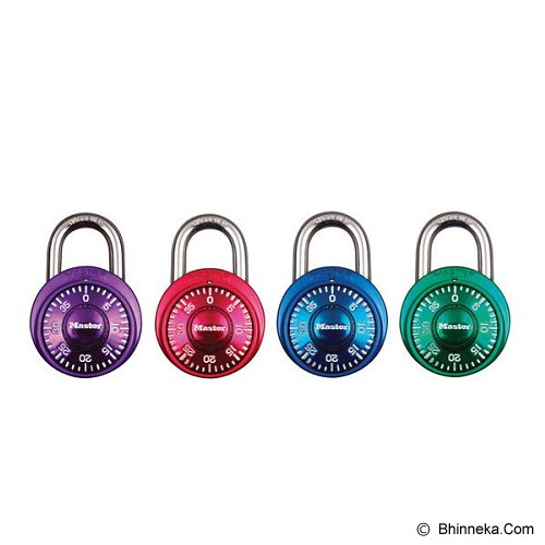 MASTER LOCK Safety Box Fixed Combination [1530DCOL] - Purple - Gembok Kombinasi